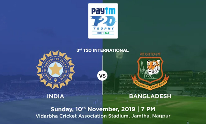 India Vs Bangladesh – 3rd T20I
