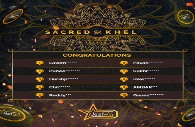 Sacred Khel – Season 1 Winners